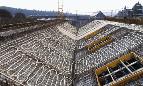 Rohre für die Betonkernaktivierung