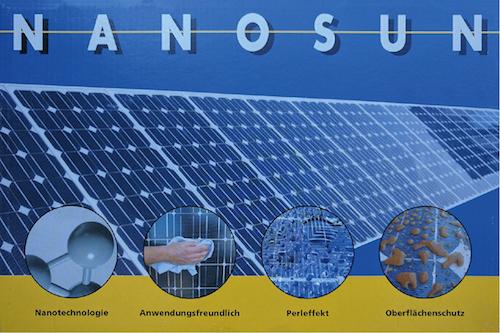 Die Nanobeschichtung von Solarmodulen kann als Nano-Versiegelung des Solarglases den Selbstreinigungseffekt verbessern oder als Nano-Beschichtung der Zellen den Wirkungsgrad erhöhen