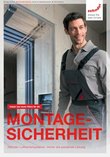 """Broschüre """"Montagesicherheit"""" bietet der Raumklimaspezialist Zehnder dem Fachhandwerker ein praxisnahes, kompaktes Handbuch zur komfortablen Wohnraumlüftung"""