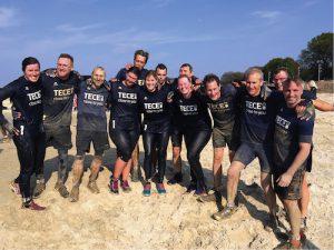 TECE-Mitarbeiter bei den Mud Masters 2017