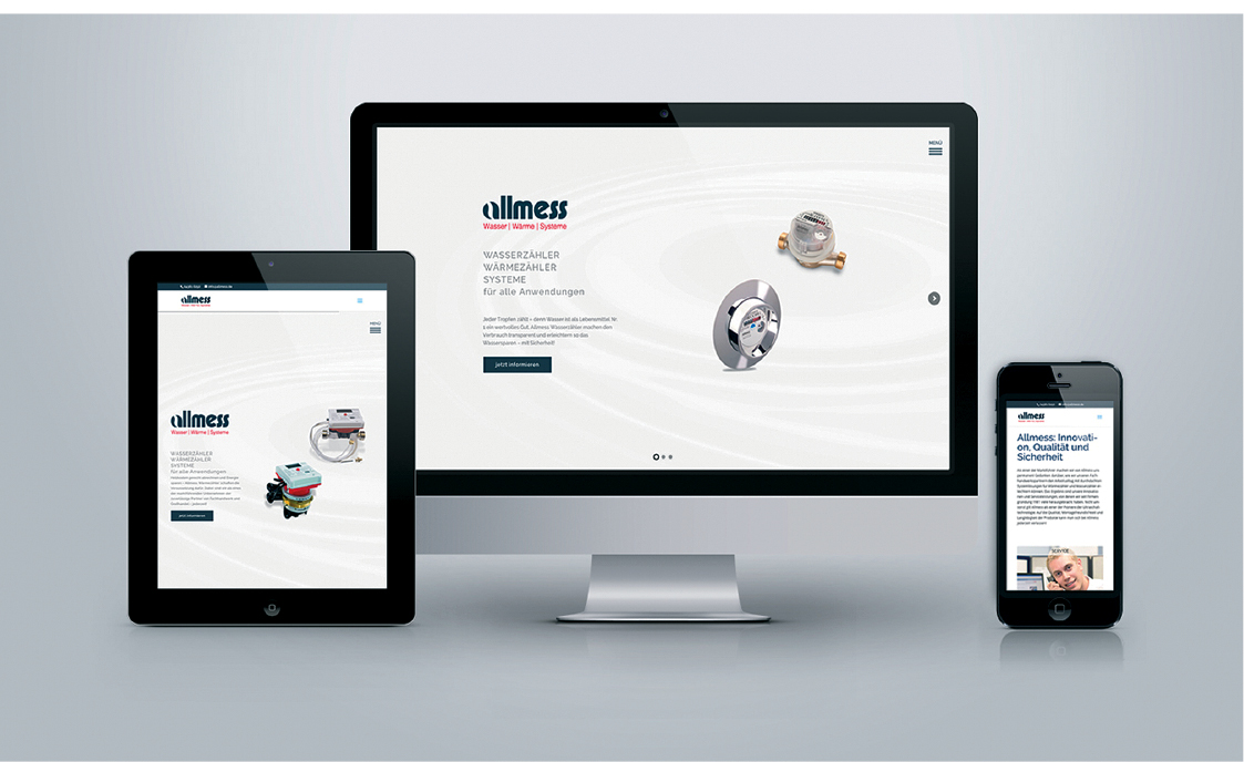 Allmess Relaunch der Allmess-Website