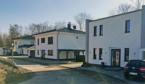 Das Neubaugebiet Sohnius-Weide wird über dezentral in der Ortschaft installierte Wärmepumpen mit regenerativer Wärme versorgt
