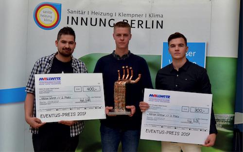 Innung SHK Berlin ehrt die besten Absolventen