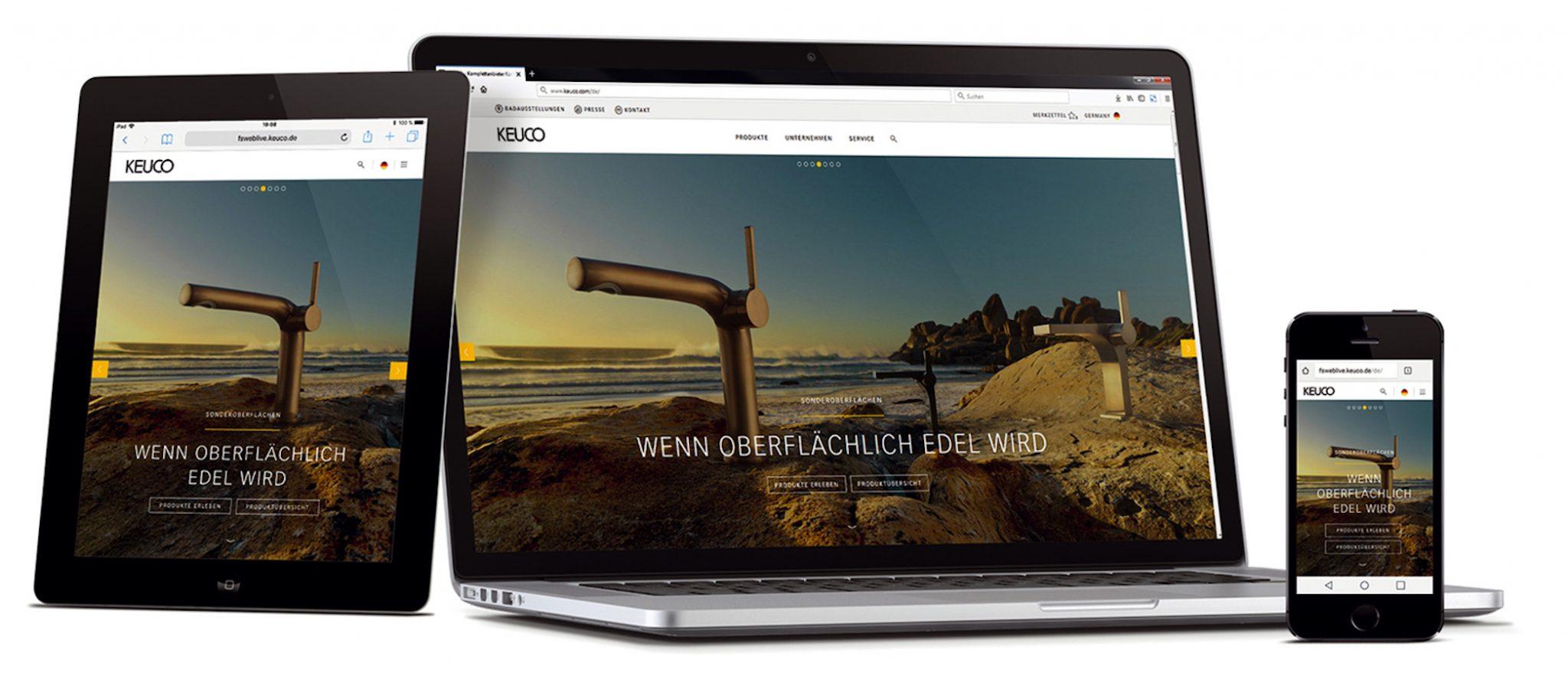 KEUCO neue Internetseite