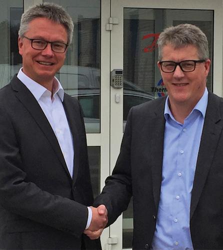 v.l. Dr. Kai Schiefelbein, Geschäftsführer Stiebel Eltron-Gruppe, und Troels H. Petersen, Head of Corporate Strategy, Danfoss A/S.