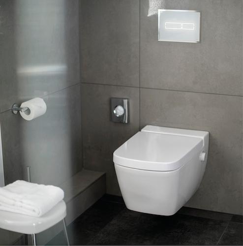 TECEone ist eine hoteltaugliche Alternative zu komplizierten, erklärungsbedürftigen Dusch-WCs.
