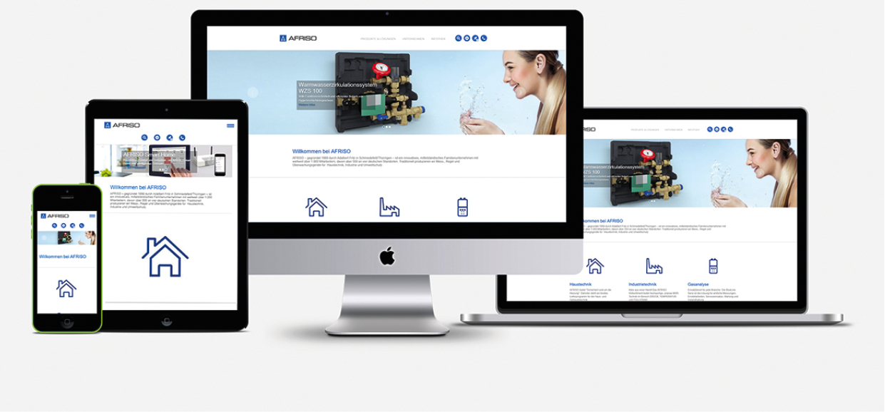 Afriso mit neuer Webseite