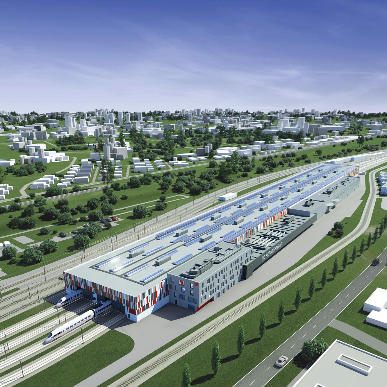neuen ICE-Instandhaltungswerks der Deutschen Bahn in Köln-Nippes