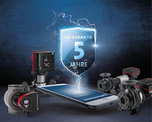 Grundfos GO Garantie – 5 Jahre Sicherheit ab Inbetriebnahme