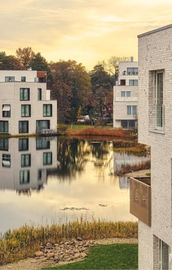 Das luxuriöse Wohnquartier Fünf Morgen Dahlem Urban Village wurde im Jahr 2017 fertiggestellt. (Alle Fotos Dallmer)