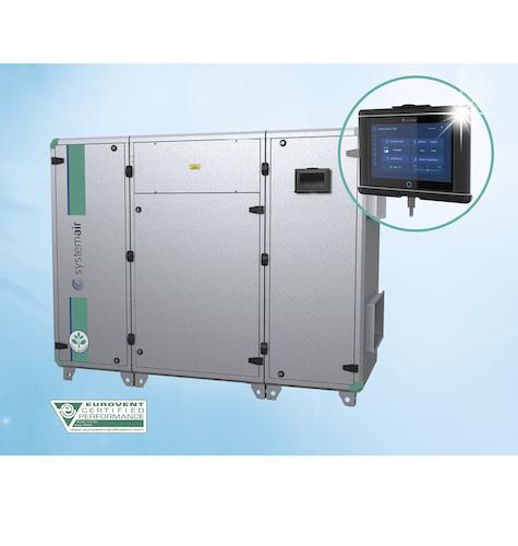 Systemair Regelungslösung für Topvex-Kompaktlüftungsgeräte