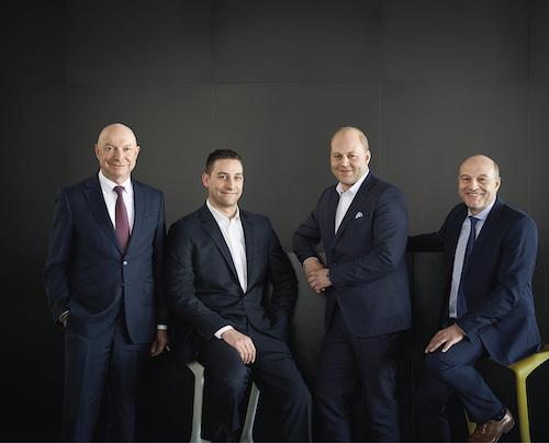v.l.: Andreas Dornbracht, Alexander Dornbracht, Konstantin Dornbracht, Matthias Dornbracht.