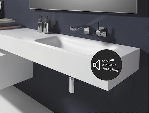 Repabad-Waschtischplatte-Mineralwerkstoff-Musik-Bluetooth-Lautsprecher