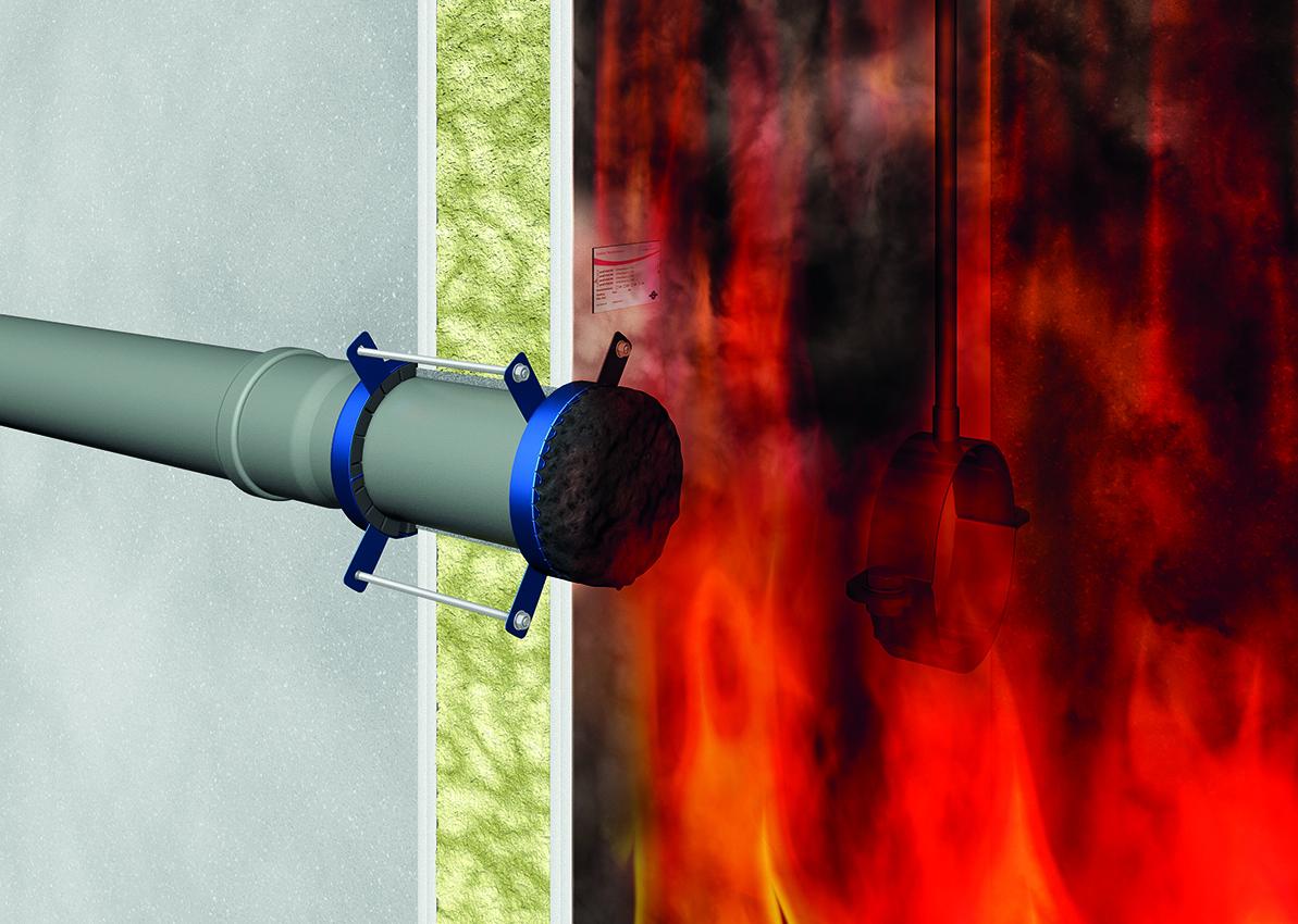 DOYMA - Abschottungsprinzip mit Brandschutzmanschetten