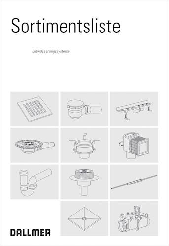 Dallmer: Gesamtsortiment für Entwässerungssysteme