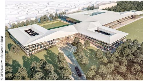 neue Zentrale des Deutschen Fußballbundes - DFB in Frankfurt-Nierrad
