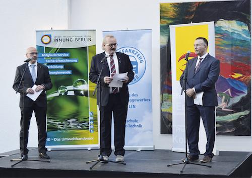 Gemeinsames Bekenntnis zur Energiewende - v.l. Andreas Schuh, Thomas Lundt, Charsten Joschko