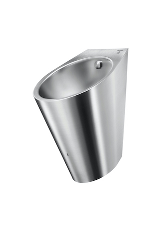 DELABIE - Edelstahl-Urinal mit Hybrid-Spülsystem