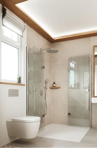 Kaldewei - Duschfläche mit integrierter Bewegungsfläche für DIN 18040-2