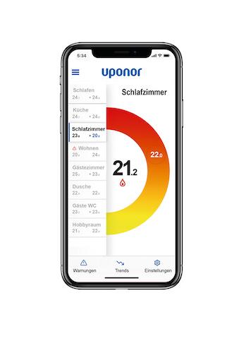 Uponor - Smart die Flächenheizung regeln