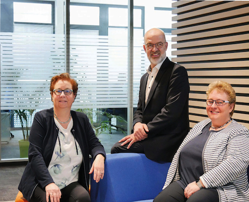 v.l. Kerstin Ihlenfeldt-Wulfes, René Hartwig, Tanja Kraas